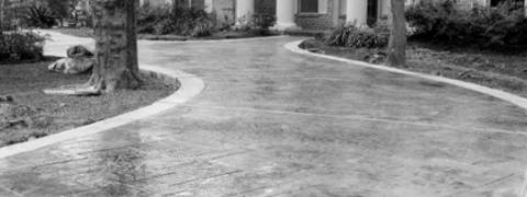 image of concrete driveway